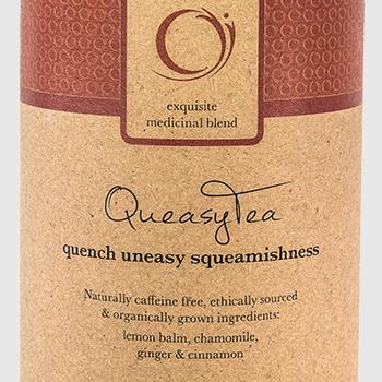 Teasing QueasyTea product
