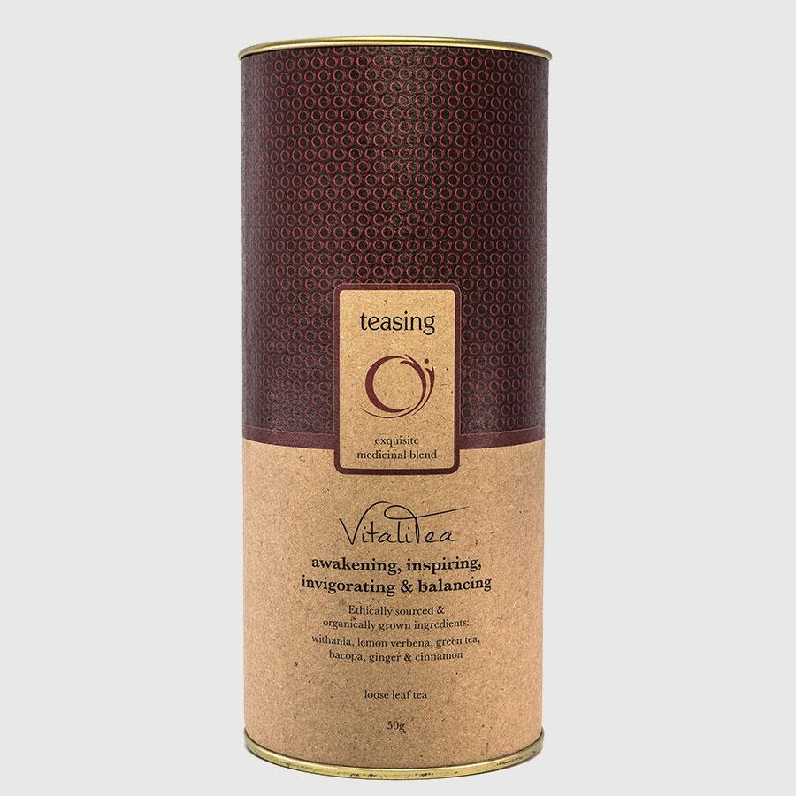 Teasing VitaliTea product canister