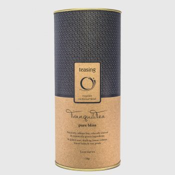 Teasing TranquiliTea product canister