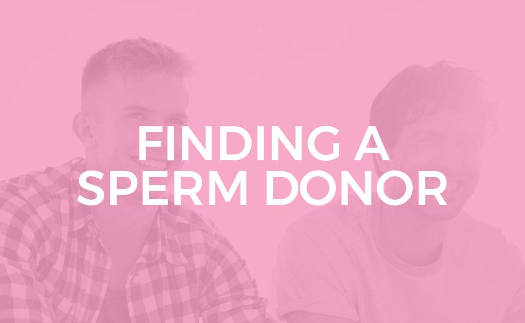 Finding an sperm donor