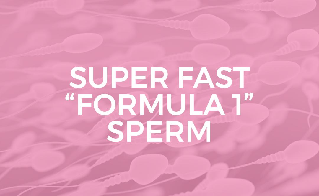 """Super fast """"formula 1"""" sperm"""